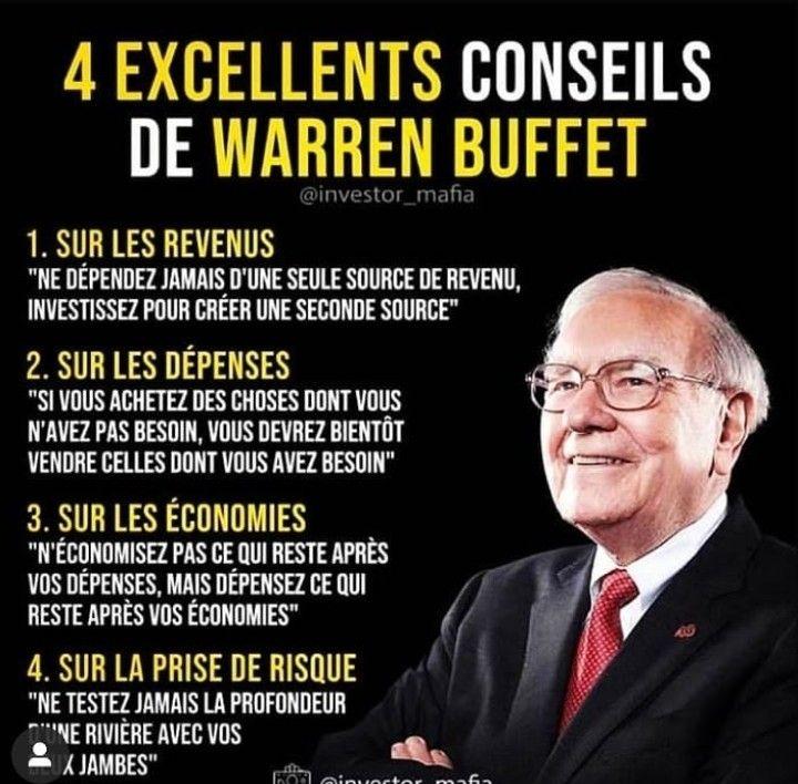 Devenir Riche Comme Warren Buffet Education Financiere Finances Personnelles Citations Business