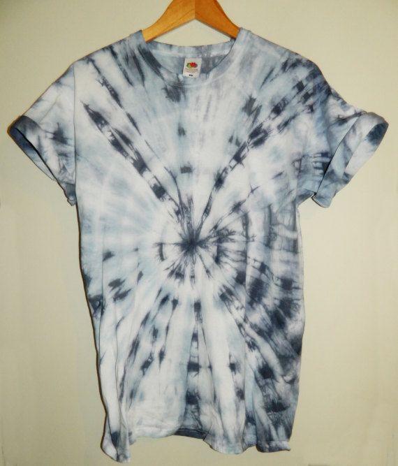 Tie Dye T-shirt Dip Dye Unisex Festival 90s Grunge Hipster Mens Ladies Indie