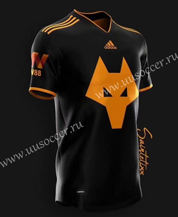 2019-2020 Wolverhampton Wanderers Black Thailand Soccer Jersey AAA ...