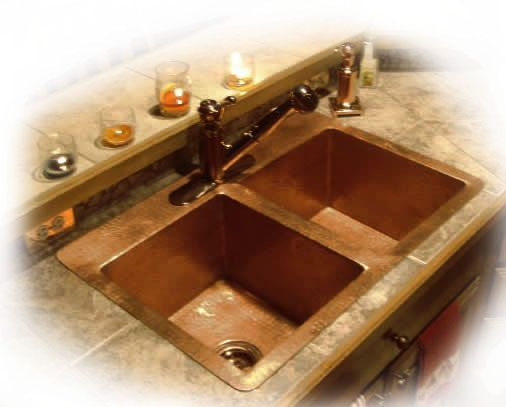 Custom Copper Kitchen Sinks For Undermount Dropin And Front A Cabinet Installation