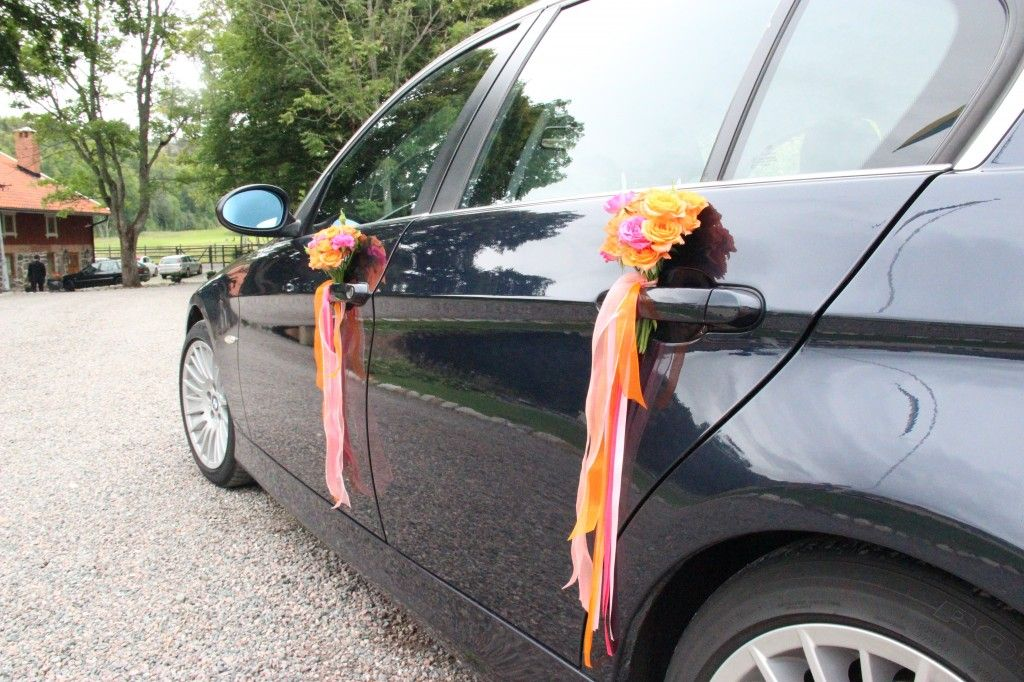 elegant simple wedding car decoration decor floral flowers ...