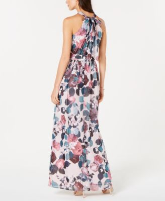 6616442c768 Nine West Pleated Floral-Print Maxi Dress in 2019