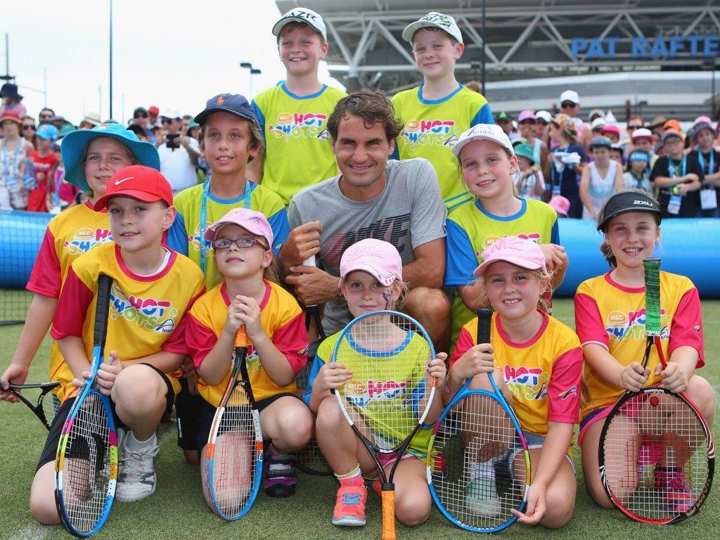 Federer headlines Suncorp Kids Tennis Day 2 January 2016