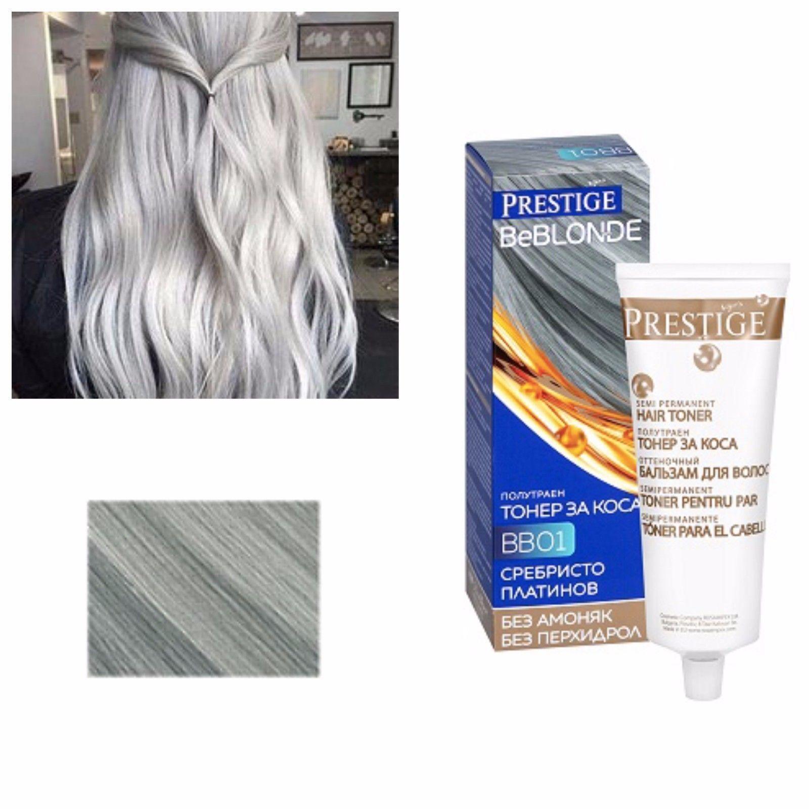Grey Hair Silver Effect Toner Dye Blond Hair 100 Ml No Ammonia