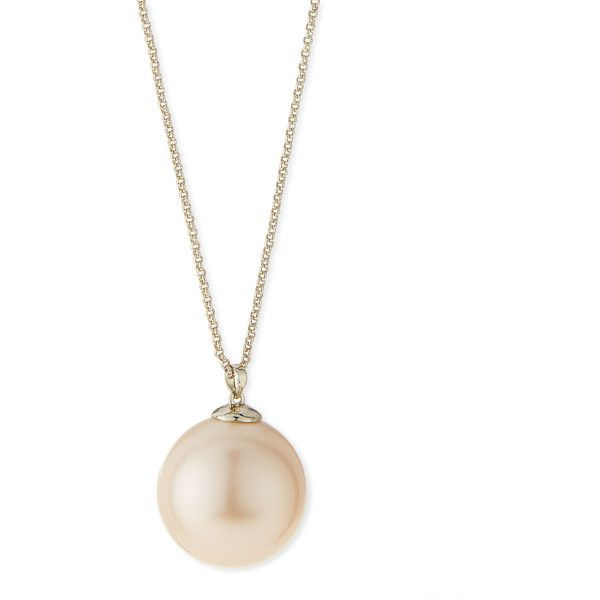 Lele Sadoughi Sands of Time Simulated Pearl Pendant Necklace (28.890 HUF) ❤ liked on Polyvore featuring jewelry, necklaces, pearl, long pendant, faux pearl pendant necklace, pendant jewelry, sand jewelry and long necklace