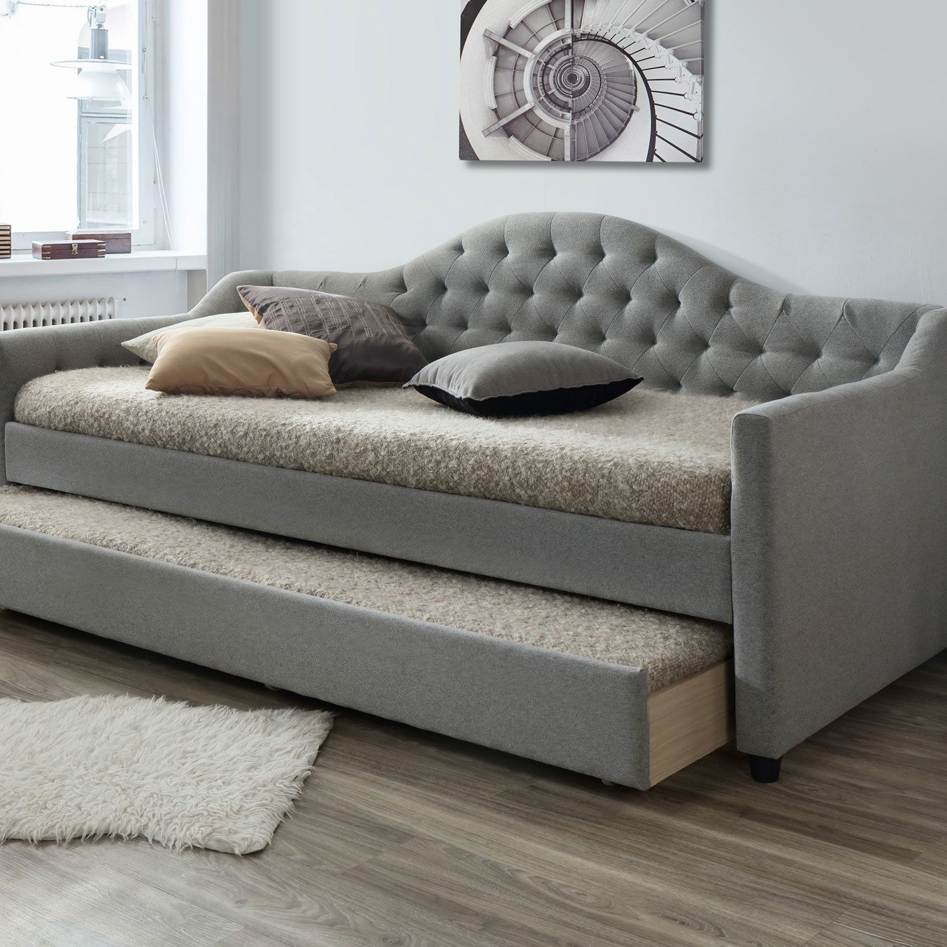 Best Grey York Single Day Bed Frame With Trundle In 2019 Day 400 x 300