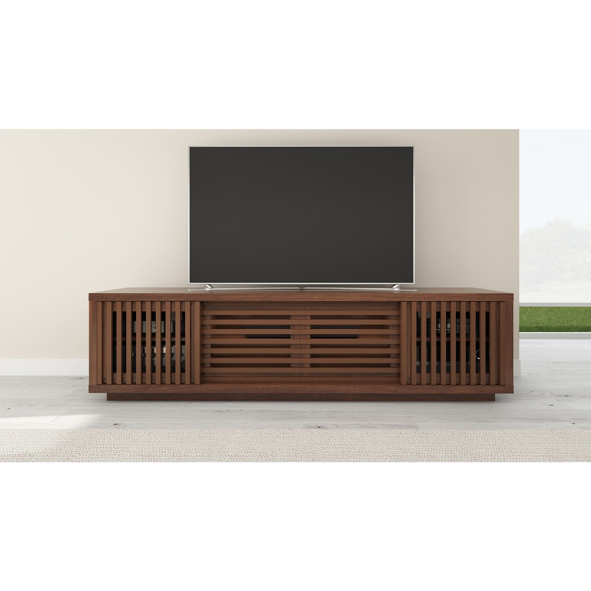 the best attitude e0df1 41efd FURNITECH 82-inch American Walnut Media Console | living ...