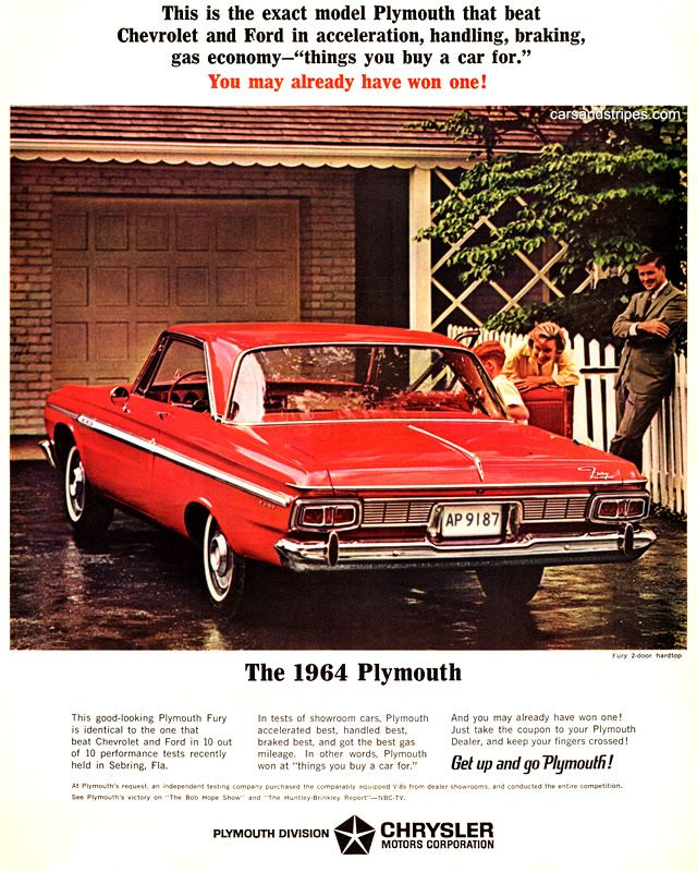 1964 Plymouth Fury This is the exact model Original Ad