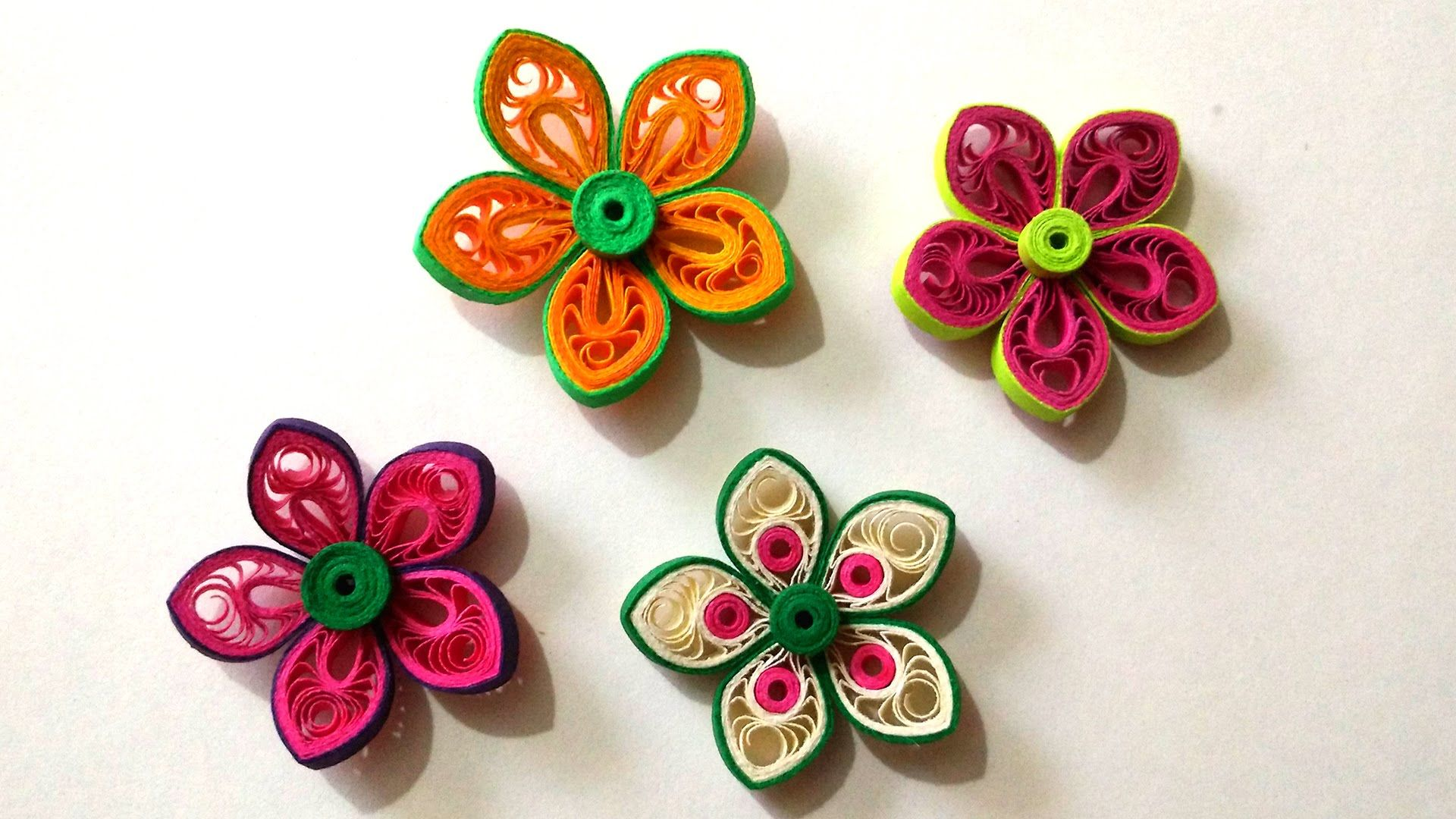 How To Make Beautiful Flower Using Paper Art Quilling Quilling
