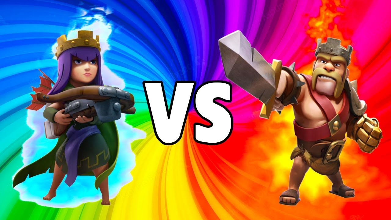 Clash Of Clans- ARCHER QUEEN VS BARBARIAN KING   Barbarian