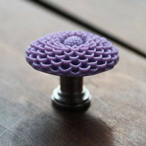 Flower Drawer knobs Mum in Lavender more COLORS by DaRosa on Etsy
