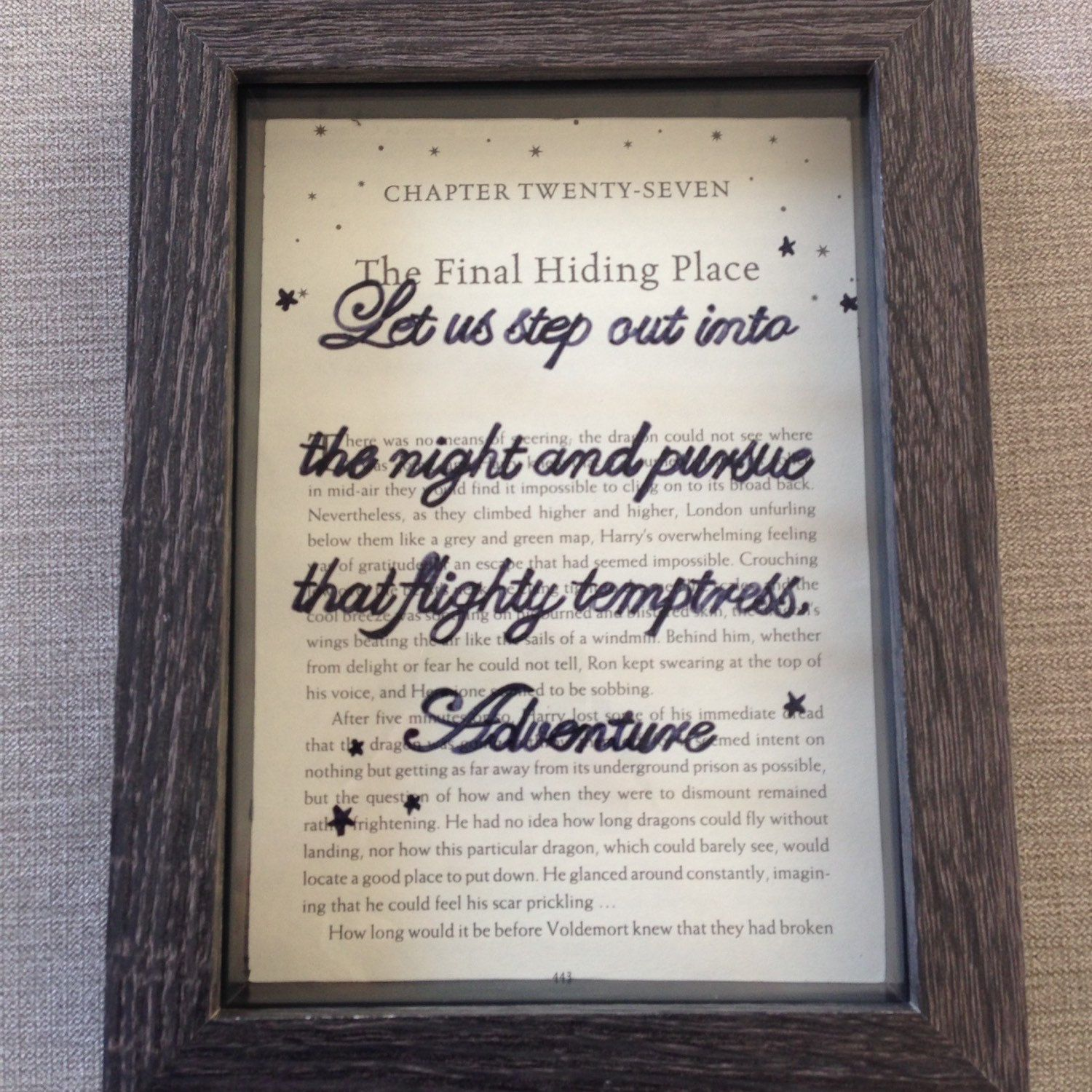 Harry potter quote frame let us step out into the night and harry potter quote frame let us step out into the night and pursue that flighty jeuxipadfo Gallery