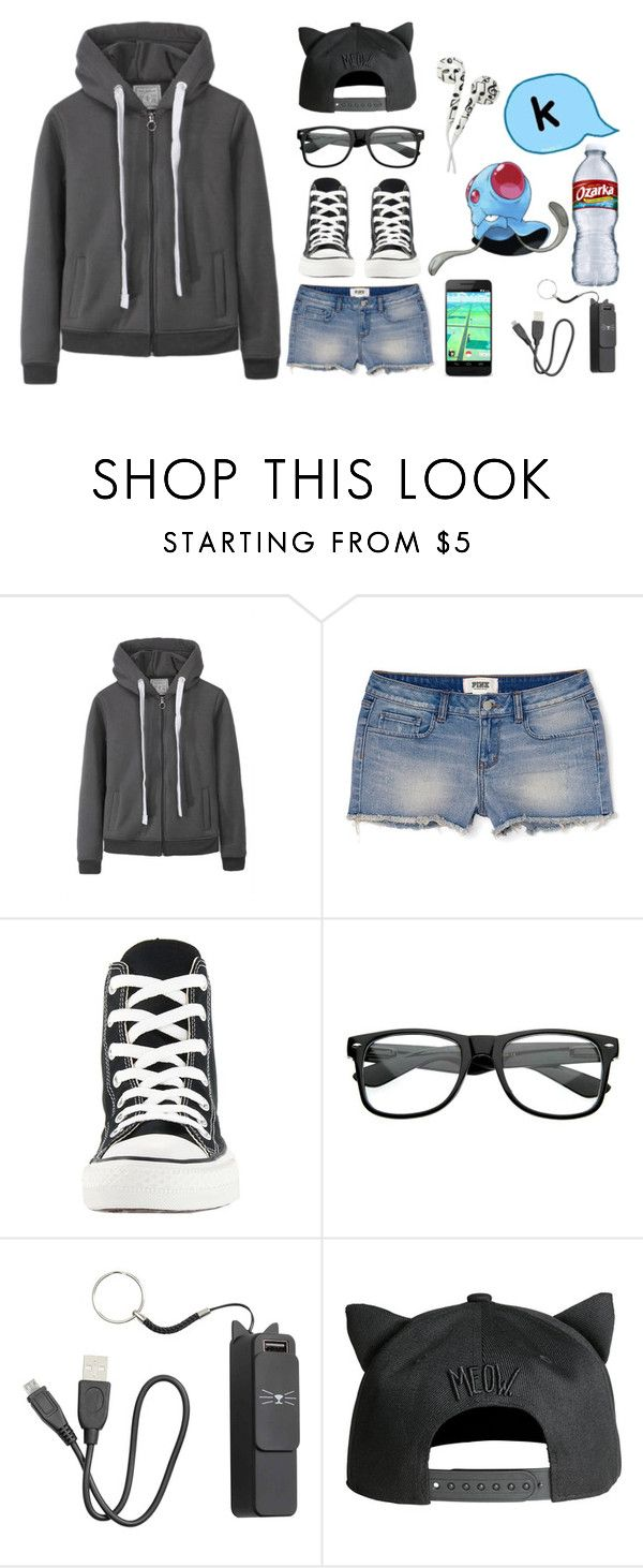 """""""I caught a Tentacool!"""" by lexi-moo ❤ liked on Polyvore featuring Converse and ZeroUV"""