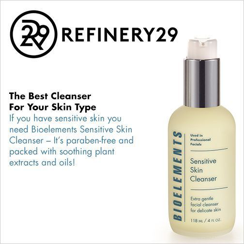 If you have sensitive #skin, you NEED a gentle cleanser. @refinery29 recommends Sensitive Skin Cleanser. #SkinCareTipsForTeens #SkinCleanserHomemade