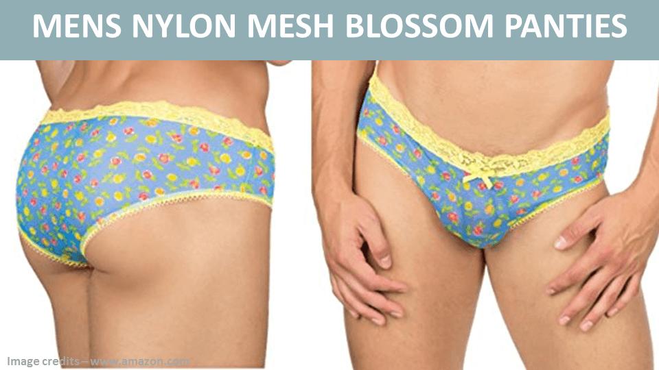 ee369ae66380 Mens Nylon Mesh Blossom Panties Lingerie For Men, Rainbow Things,  Crossdressers, Nightwear,