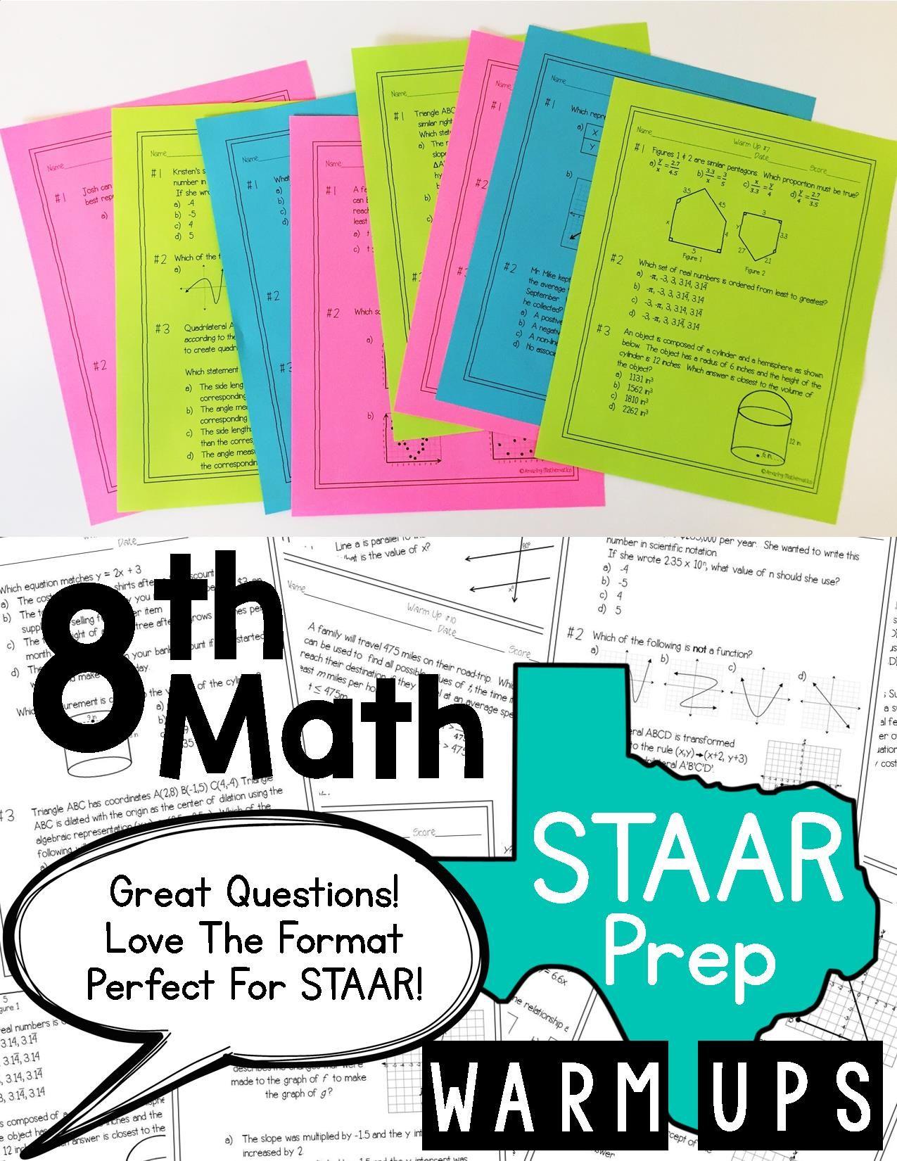 8th Grade Math Staar Review Amp Prep