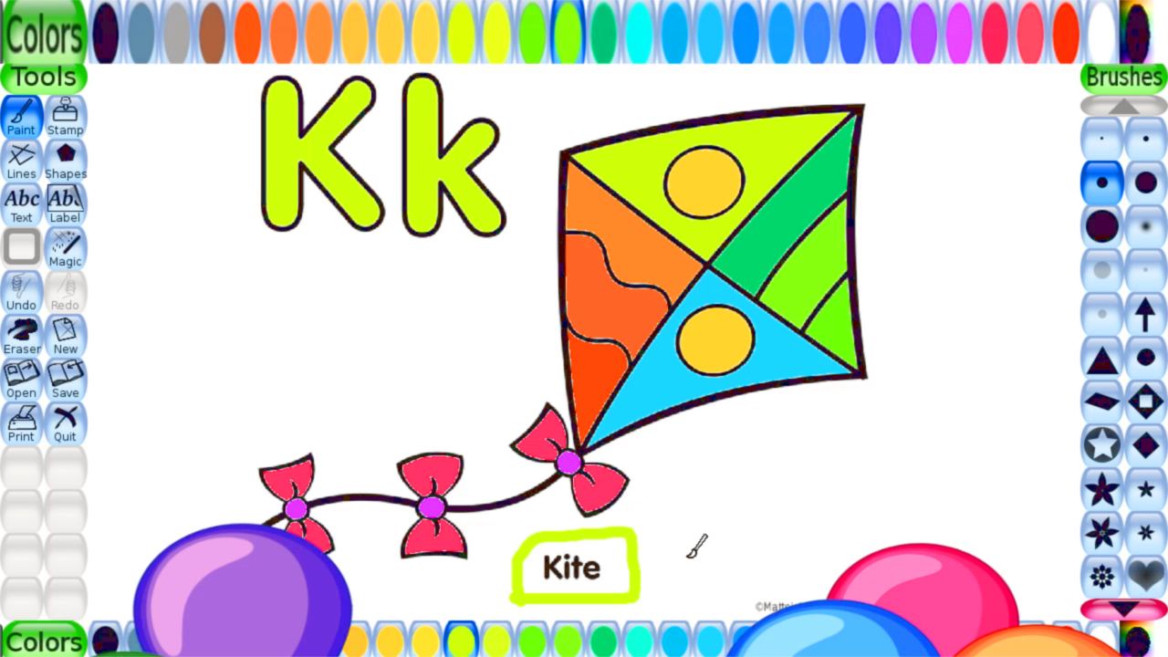 Free Coloring Pages For Kids Alphabet Letter K Printable