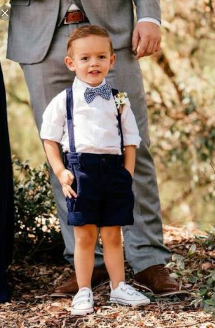 c728b527d Cute lil ring bearer outfit. Trouser shorts