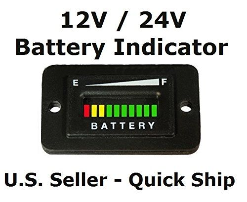 automotive authority llc� 12v 12 volt marine trolling motor battery  indicator charge status power meter