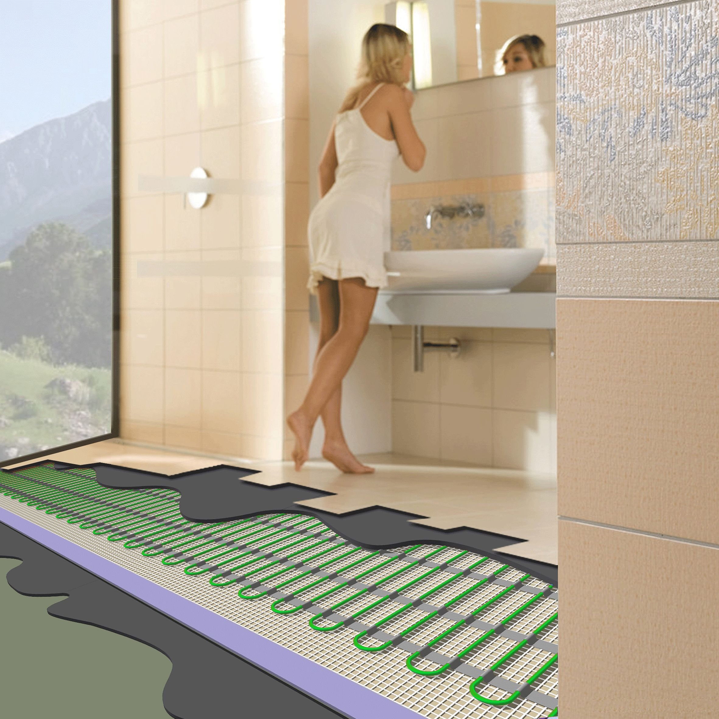 Heat Your Freezing Bathroom Floors With Radiant Electric