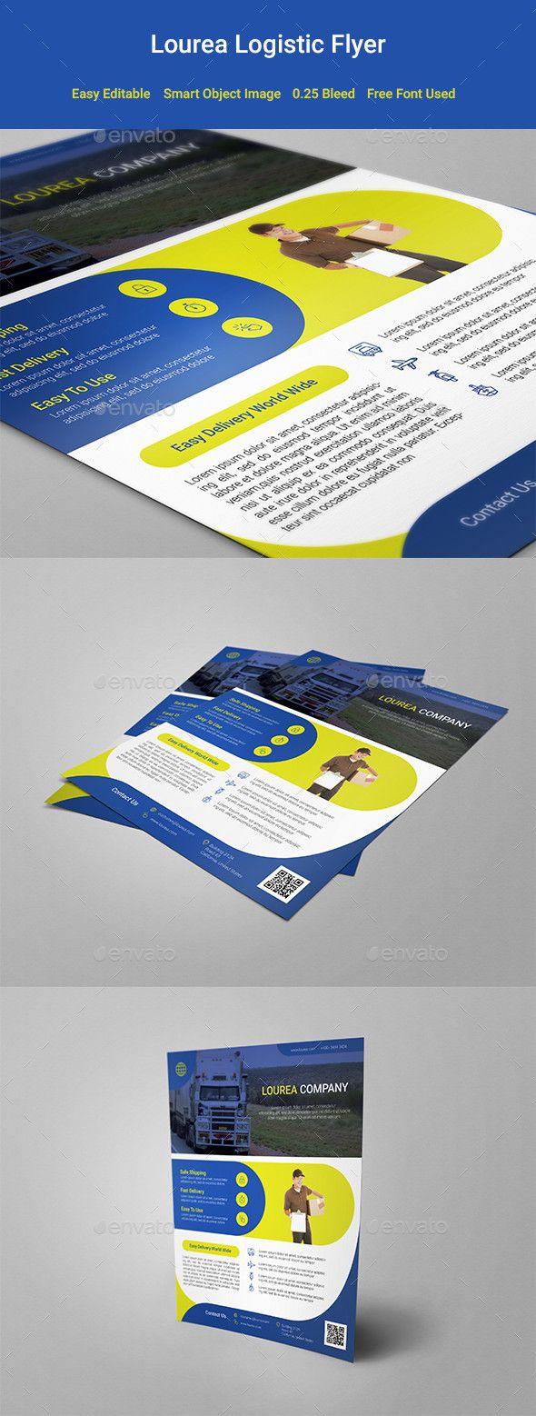 Lourea Logistic Flyer Design Template Corporate Flyers Template