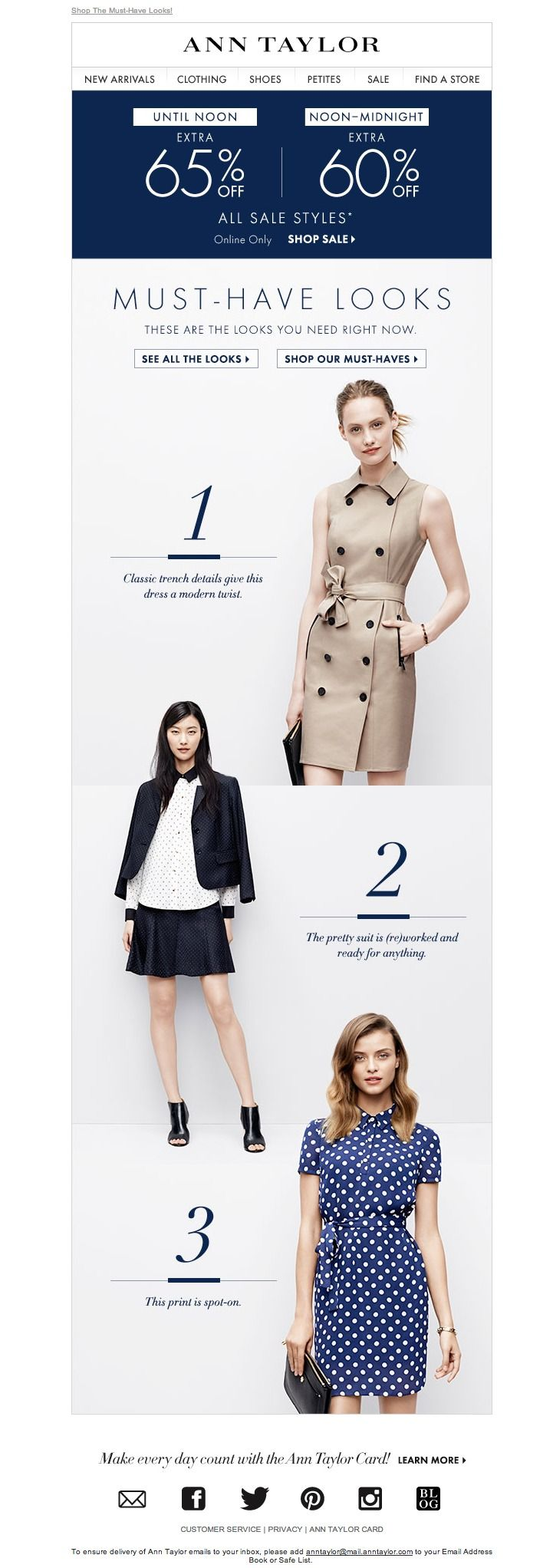 #newsletter Ann Taylor 07.2014 The 3 Trends You Must Try!