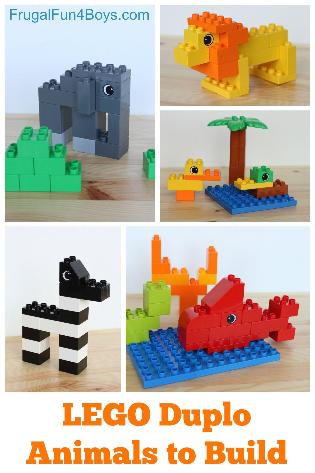 Lego Duplo Animals To Build Lego And Learning Pinterest Lego