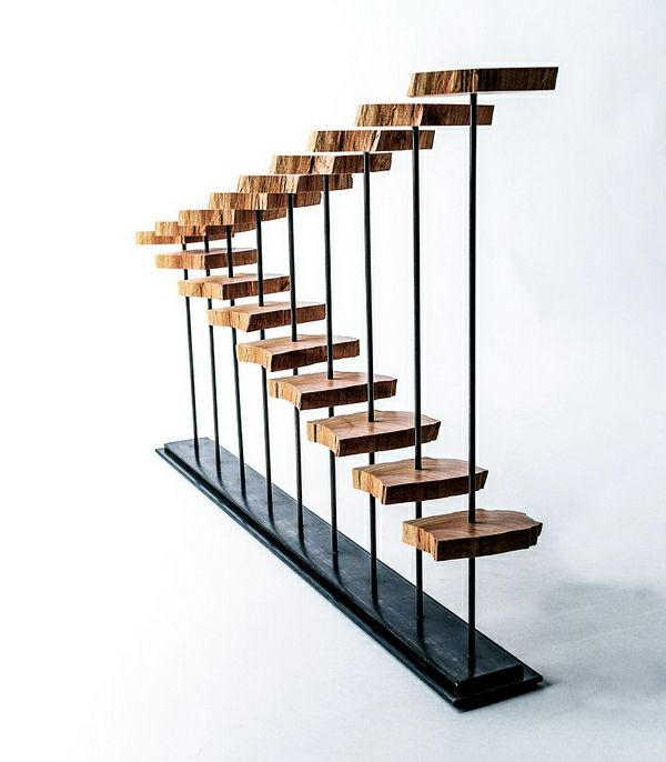 Holz Skulptur Moderne Deko Rustikaler Look Büro Einrichtung