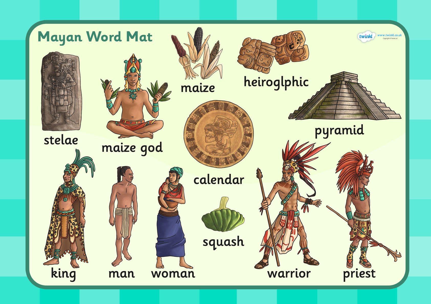 worksheet Mayan Worksheets For Kids ks2 mayan civilization word mat historical study mat