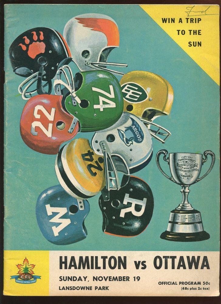 Details about 1119 1967 Canadian Football League Program
