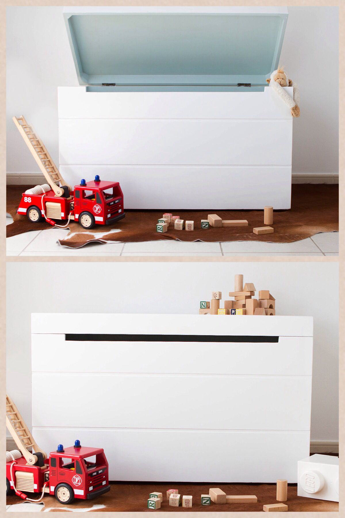 White Toy Box POMME styling by Live