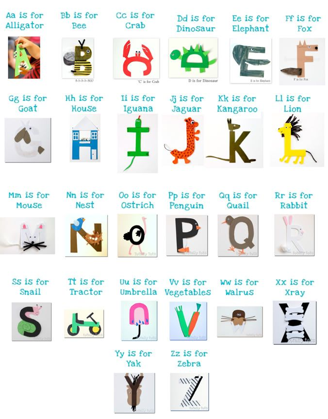 ABC letter crafts... tackle one letter a day (and maybe ...