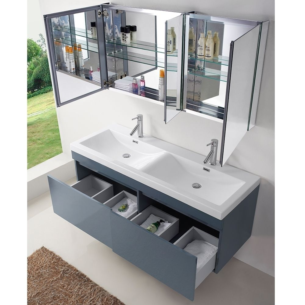 Picture Gallery For Website Virtu USA Zuri inch Grey Double Sink Bathroom Vanity Overstock Shopping