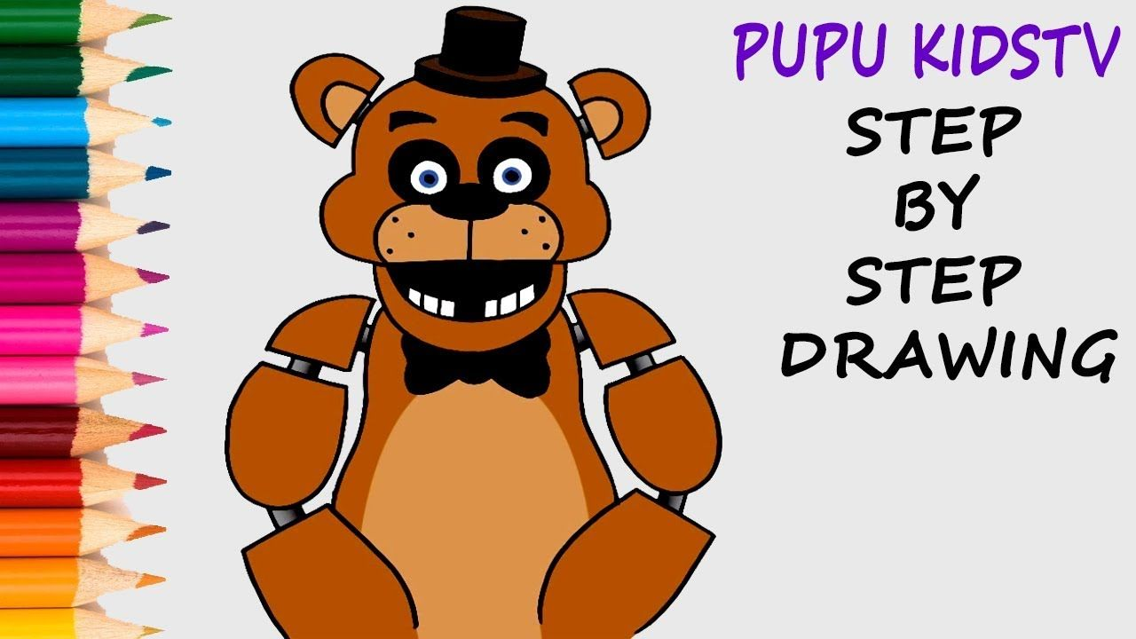 How to Draw Freddy Fazbear FNAF Coloring Pages with Art Colors For ...