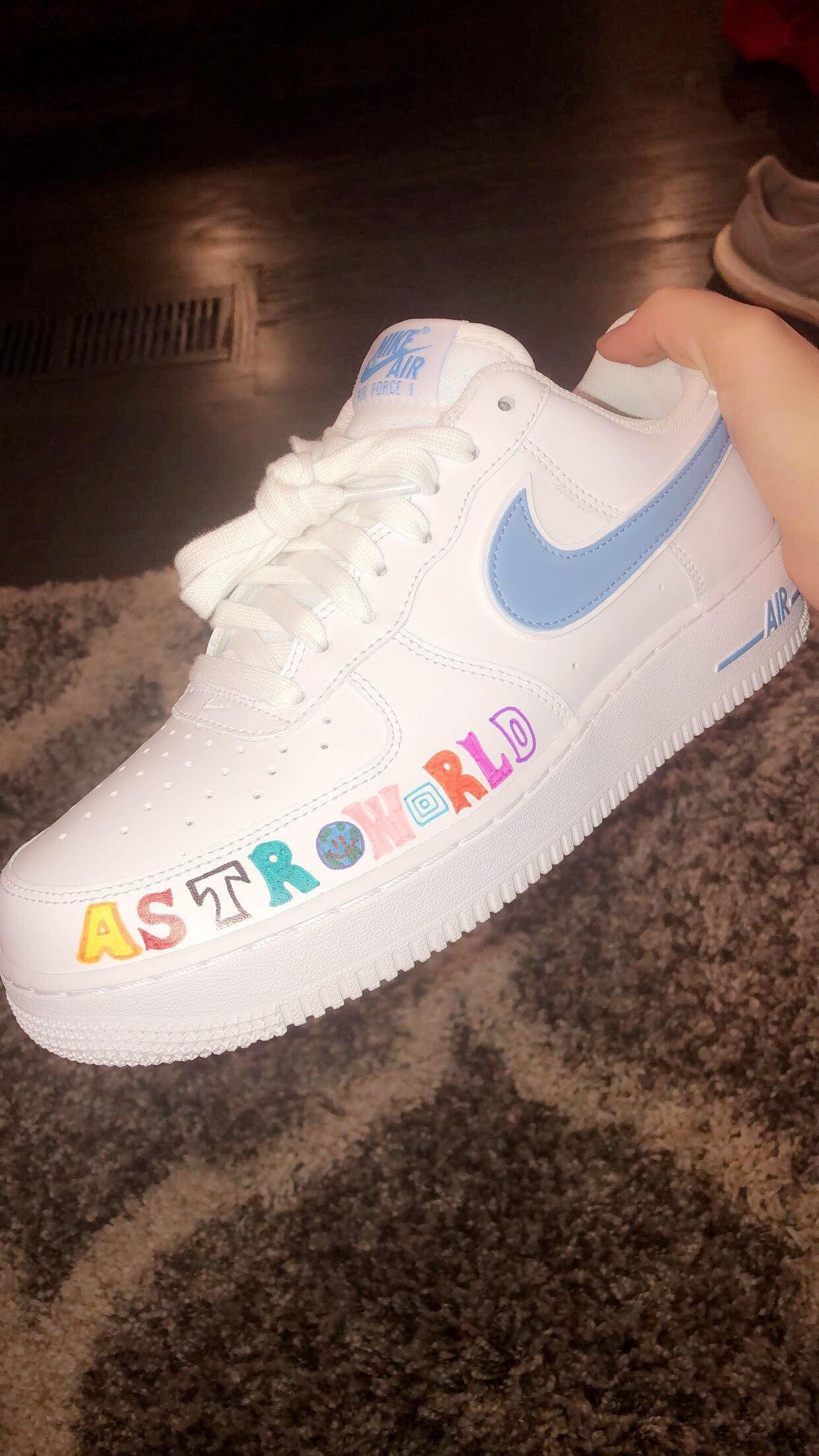 astroworld custom air force 1 – – astroworld custom air