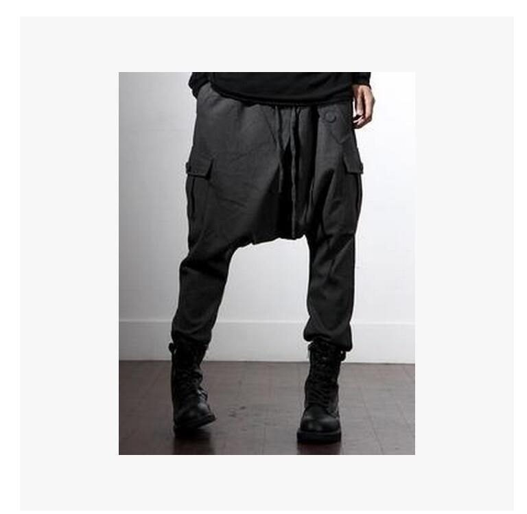 f0a286e81ee HOT 2017 autumn and winter New non-mainstream casual skinny pants trousers  hanging crotch pants