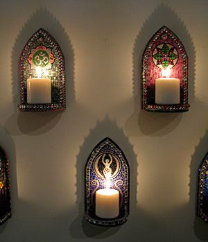 Mosaic candle sconces | Let there be light! | Pinterest | Mosaics ...