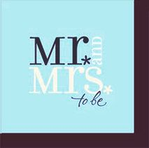 Mr. and Mrs. To Be Engagement Party Napkins