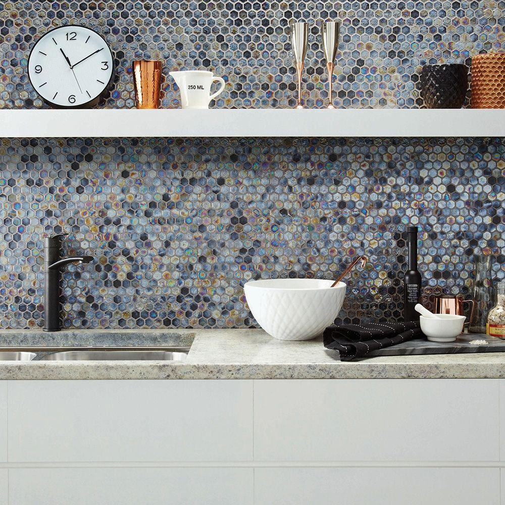 Allure Hex in 2020   Hexagonal mosaic, Hexagon mosaic tile, Mosaic