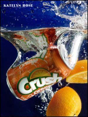 Crush Orange Fruit Soda Splash Water Photography Katelynrosephotography Splash Photography Photography Inspiration Portrait Beautiful Food Photography