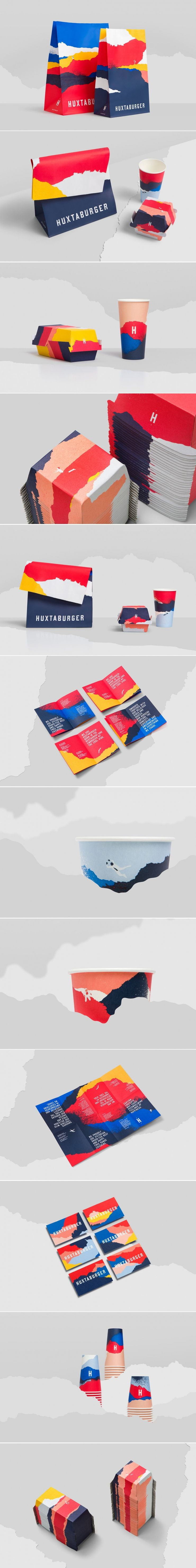 Check Out This Bold and Beautiful Branding and Packaging for Huxtaburger — The Dieline | Packaging & Branding Design & Innovation News