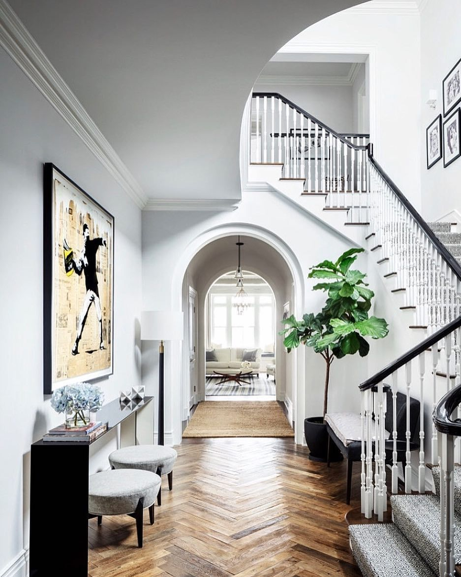 A Beautiful Foyer! In Love With The Floors!...Tag Your