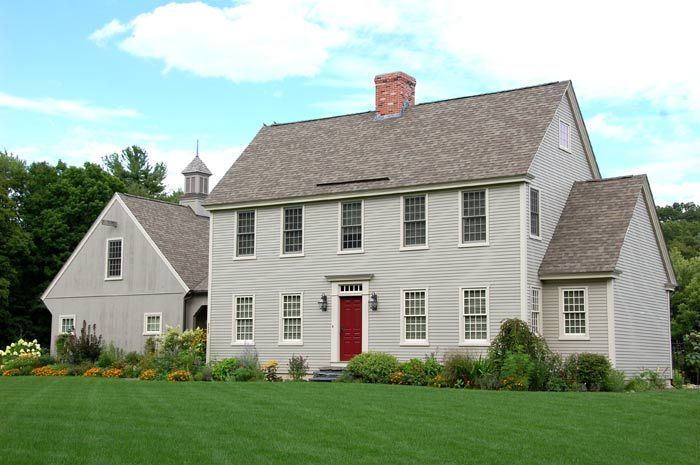 Modern Take On The New England Saltbox Colonial House Exteriors Colonial House New England Homes