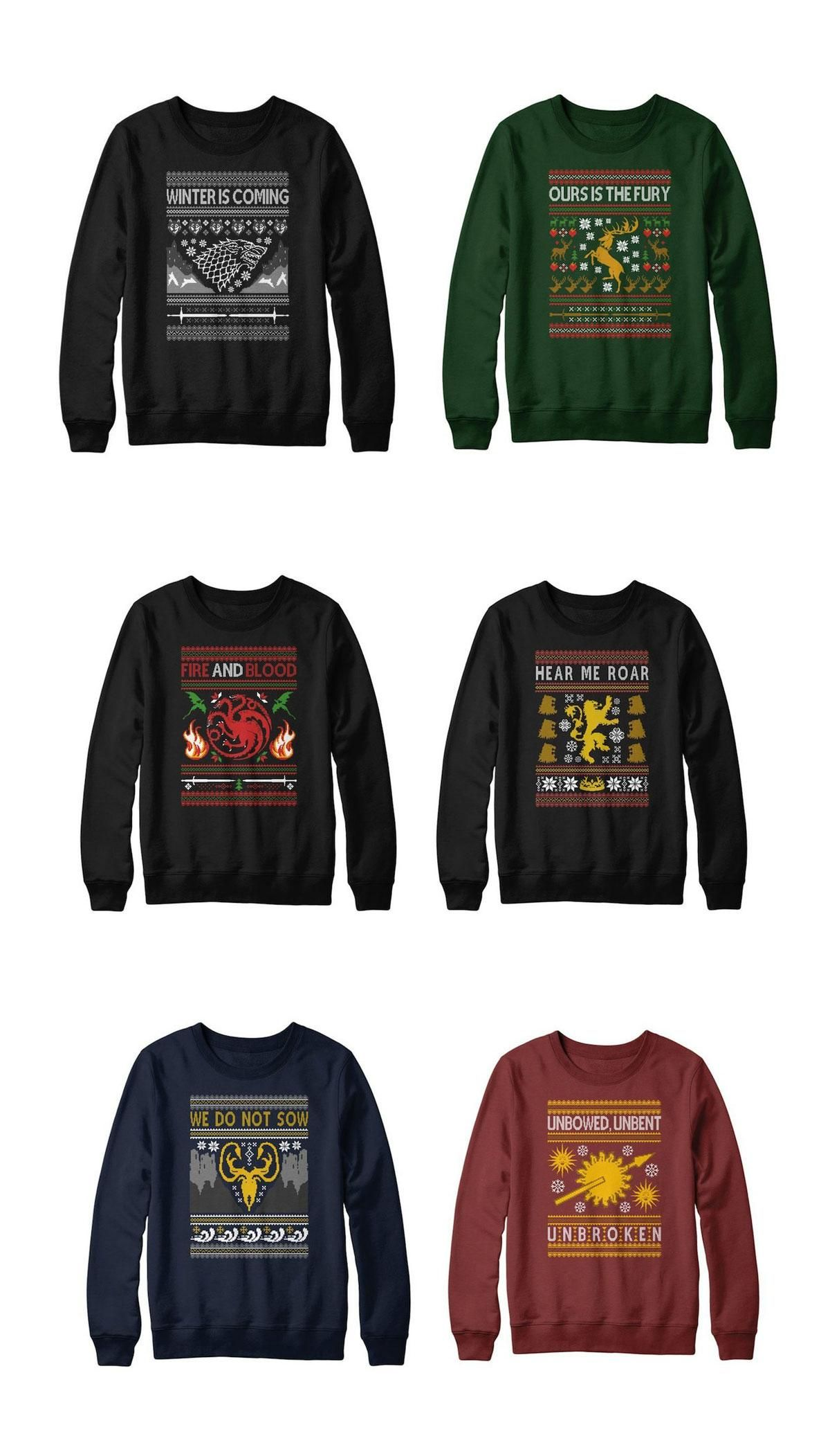 Winter is coming, and so are these GoT Christmas sweaters | Beauty ...