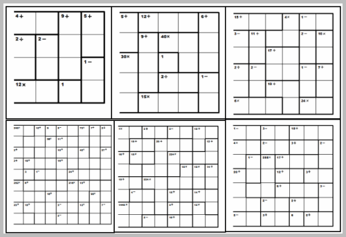 Decisive image for printable kenken puzzles 9x9