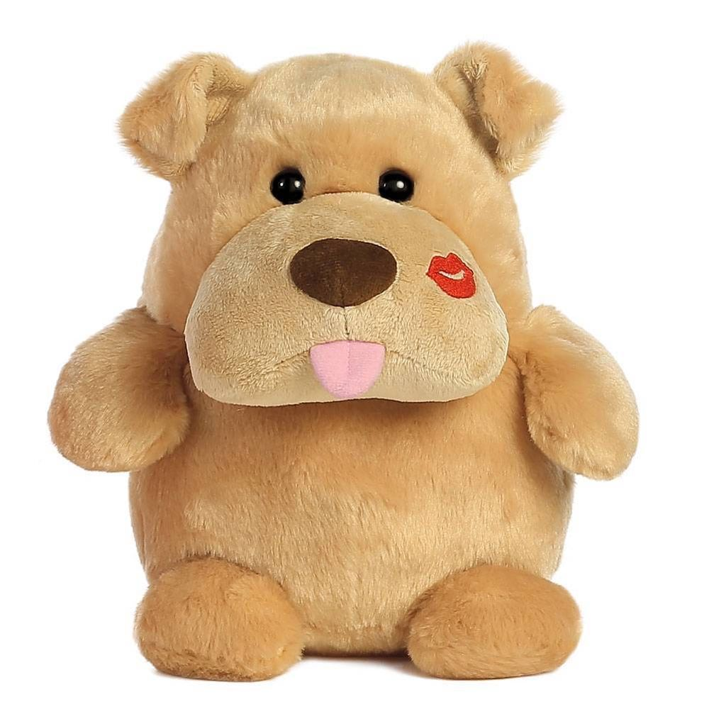9 Aurora Plush Pucker Up Puppy Dog Stuffed Animal Toy Valentine