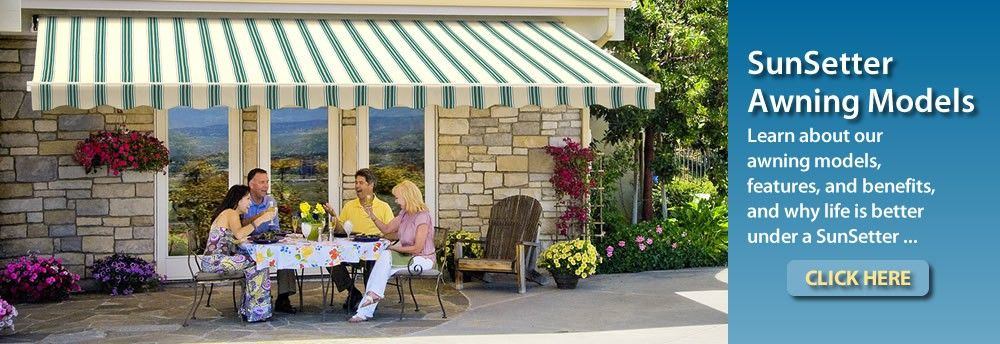 Learn About Our Sunsetter Awning Models Back Porch Pinterest