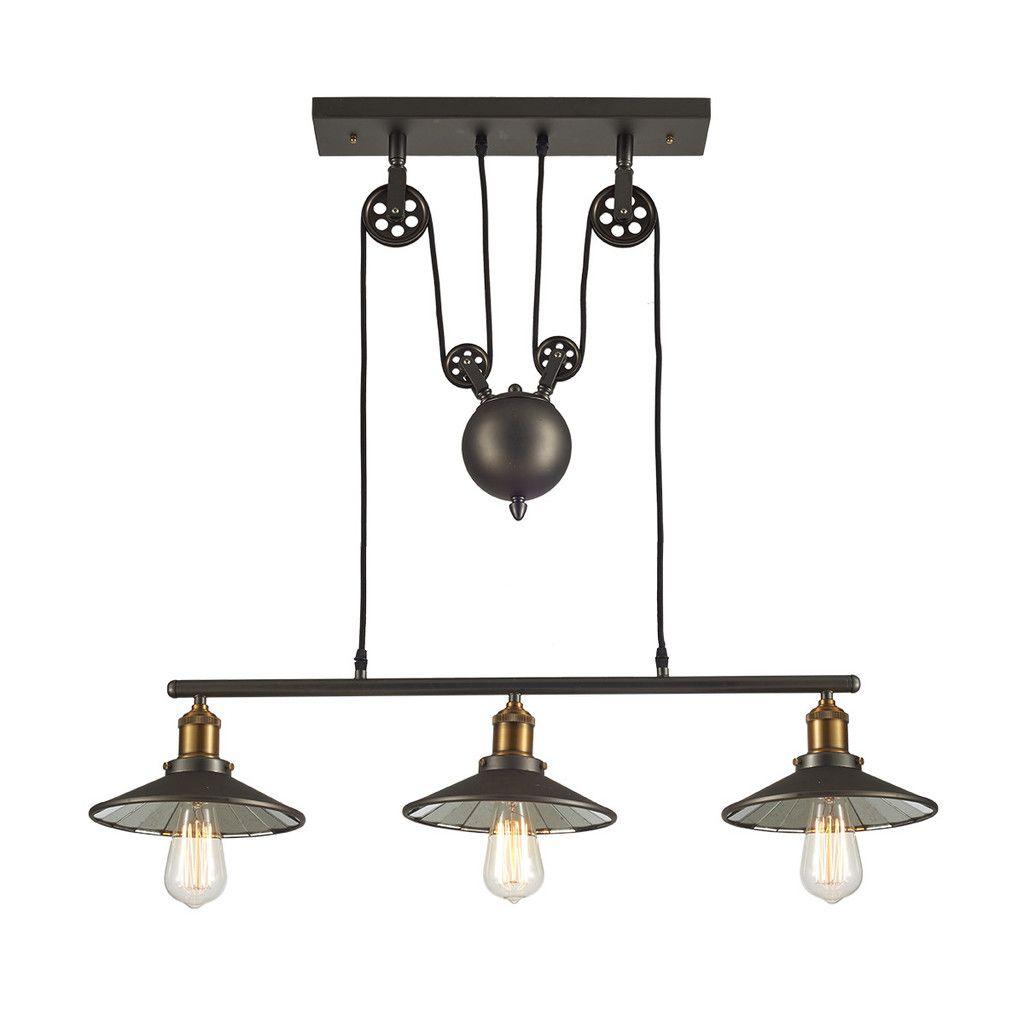 Vintage barn pendant light fixture 3 lights bulbs included vintage barn pendant light fixture 3 lights metallic grayantique brass arubaitofo Gallery