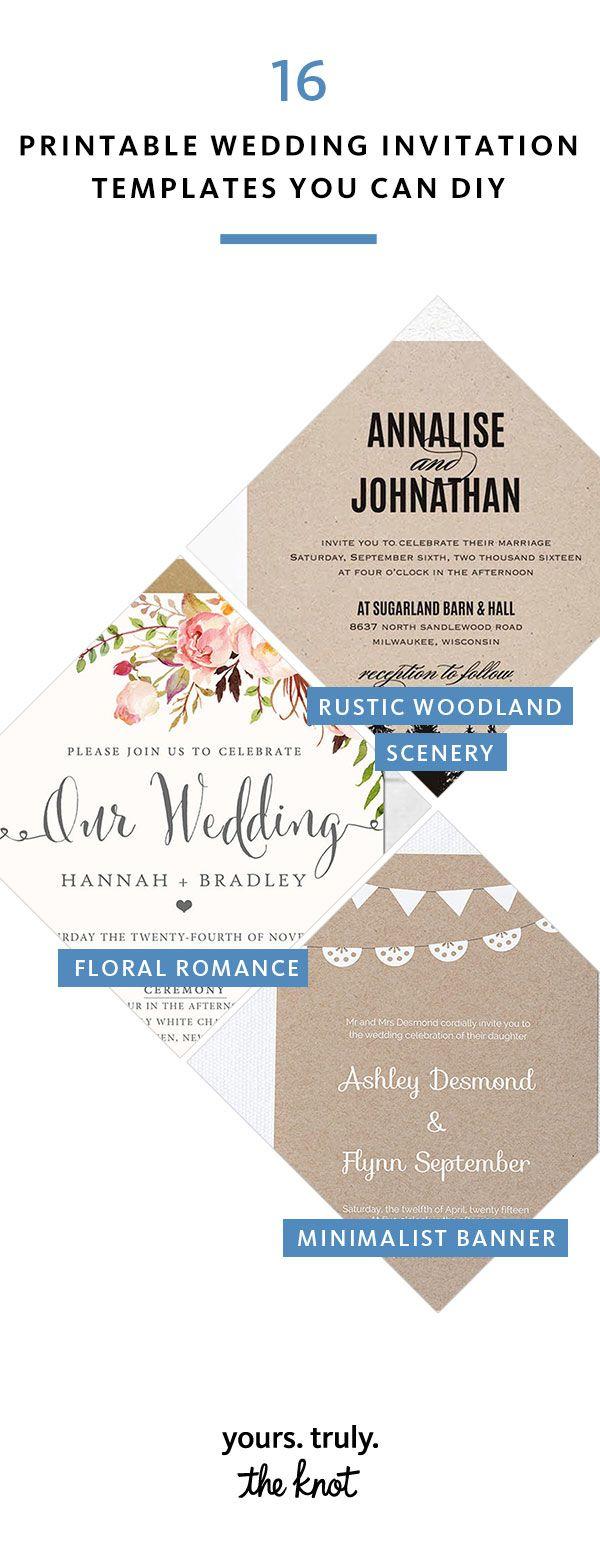 16 Printable Wedding Invitation Templates You Can Diy Diy Wedding