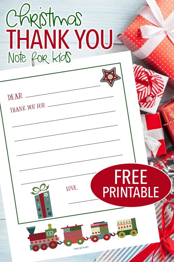 Free Printable Christmas Thank You Notes For Kids Free Christmas Printables Christmas Thank You Christmas Printables